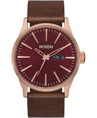 £78.75 • Buy Nixon Sentry Leather Men's Watch A105 - New - MSRP $150