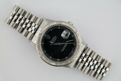 $ CDN7301.27 • Buy Rolex Datejust 16264 Turn-O-Graph Black Dial Jubilee Band Box & Papers Year 1999