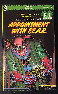 AU26.98 • Buy APPOINTMENT WITH F.E.A.R. Fighting Fantasy #17 1985 1st/1st Green Banner VG+