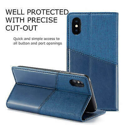 AU80 • Buy Oppo A15 A53S F17 A32 A92S Realme X50 Reno 4Lite Leather Canvas Flip Cover Case