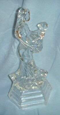 RCR Royal Crystal Rock Italy Crystal Glass Mother & Baby Figurine • 24.99£