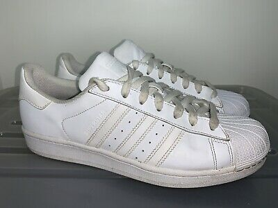 AU38.25 • Buy Mens ADIDAS Originals Superstar Foundation Triple White Sneakers US 9 #20096