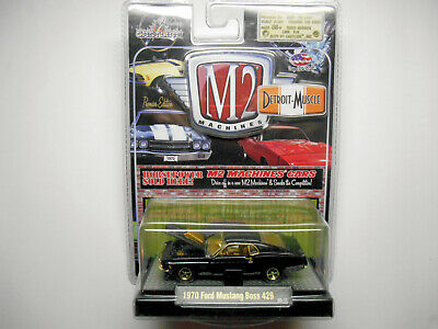 $50 • Buy M2 Detroit Muscle Black 1970 Ford Boss 429 Mustang Gold Chase Car By Castline