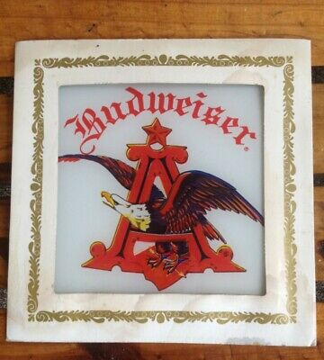 $ CDN9.90 • Buy Vintage Budweiser Beer Glass Picture Sign