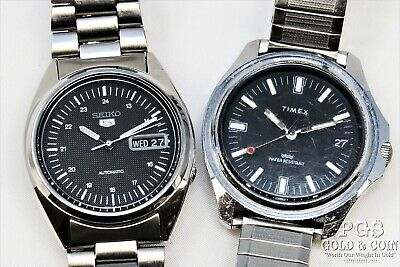 $ CDN236.85 • Buy Vtg Watches Working Seiko Automatic 7S26 Day/Date, Timex 21J 37 For Parts21233
