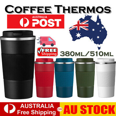 AU23.89 • Buy Thermos 510ML Vacuum Flask Hot Cold Drinks Insulated Travel Flask Mug Coffee Cup