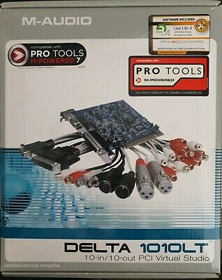 $250.49 • Buy M-Audio Delta 1010LT PCI Soundcard With Breakout Cables 10 In /10 Out PCI Slot