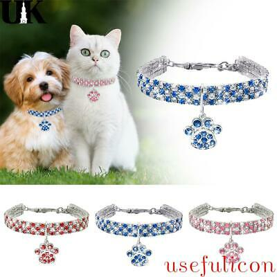 £4.93 • Buy Rhinestone Dog Collar Necklace For Puppy Cat Crystal Bling Small Pet AccessoryUK