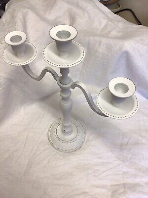 £25 • Buy CANDELABRA/CANDLE HOLDER 3 ARM /TRADITIONAL, White