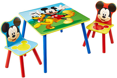 £63.60 • Buy Disney Mickey Mouse Kids Table And 2 Chair Set By HelloHome