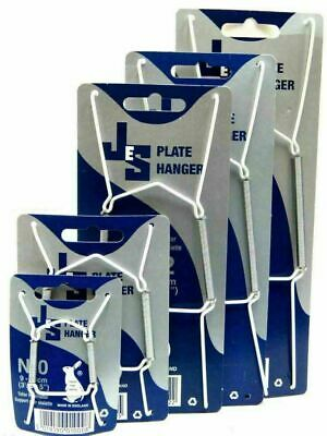 £1.99 • Buy JES Wire Plate Wall Display Spring Hangers Holder Select Size 0,1,2,3 -m