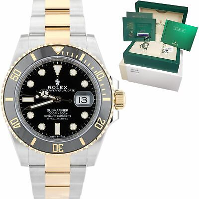 $ CDN20615.81 • Buy NEW 2021 Rolex Submariner Date 41mm Ceramic Two-Tone Gold Black Watch 126613 LN