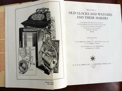 Brittens Old Clocks & Watches And Their Makers 7th Edtion1956 Horology Book • 19.99£