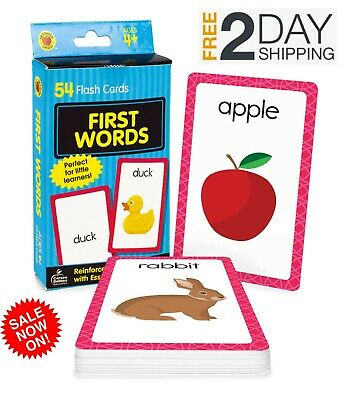 £3.95 • Buy Baby Book First Words Picture Flash Cards Kids Educational Pre School Learning