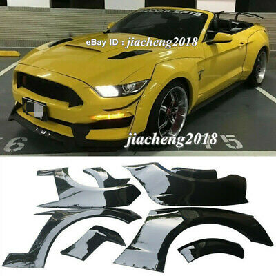 $ CDN1155.12 • Buy Fender Flares Wide Body Kit Wheel Arch Cover Trim For Ford Mustang 15-17 GT500