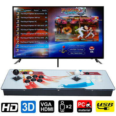 AU259.09 • Buy AU STOCK Pandoras Box 8000 Games In 1 Arcade Console 3D Retro Video Double Stick