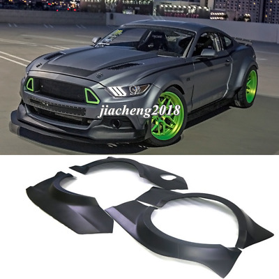 $ CDN1058.36 • Buy For Ford Mustang 15+ GT500 RTR Fender Flares Wide Body Kit Wheel Arch Cover Trim