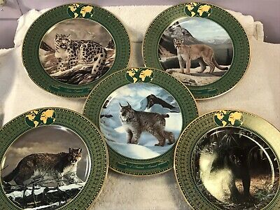 £21.57 • Buy Collector Plates Charles Frace Set Of 5 Kingdom Of Great Cats PO3402