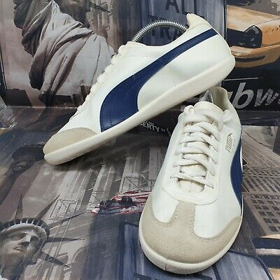 AU62.59 • Buy Vintage Puma Top Winner Mens Trainers Size 7.5 White Blue Leather Shoes Sneakers