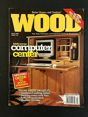 £7.04 • Buy Wood Magazine March 2002  Issue 140   Hideaway Computer Center