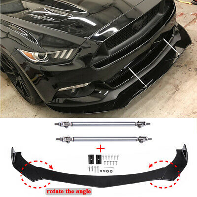 $89.46 • Buy For Ford Mustang GT Focus Mondeo Front Bumper Lip Splitter Spoiler + Strut Rods
