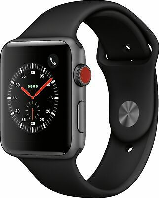 $ CDN312.58 • Buy Apple Watch Series 3 42mm GPS + Cellular Space Gray Case With Black Sports Band