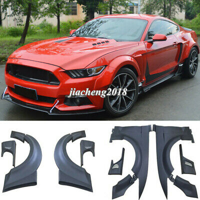 $ CDN1295.48 • Buy For Ford Mustang 15+ 2.3T/5.0 Fender Flares Wide Body Kit Wheel Arch Cover Trim