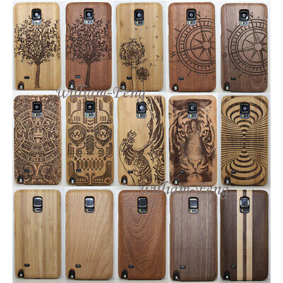 AU16.23 • Buy Natural Wood Bamboo Case Protect Cover For Samsung Galaxy S7/ Note 5/S8/S9+ Plus