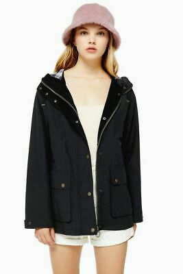 Topshop Quilted Rain Hooded Mac Parka UK 8 Barbour H&M Urban Outfitters ASOS Cos • 0.99£