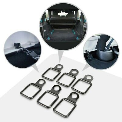 AU17.69 • Buy For Jeep Wrangler Pickup Trunk 6pcs Stainless Steel D Ring Tie Downs Set Black