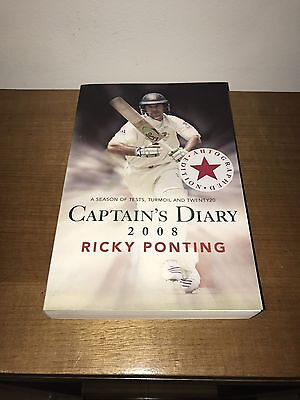 AU75 • Buy Ricky Ponting Signed Book 2008 Captains Diary Photo Proof Cricket Australia Test