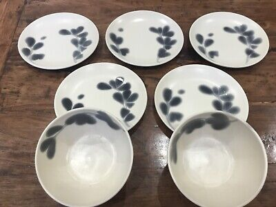 £21.99 • Buy Next Plates Salad Luncheon Deep Bowls Cereal Rice Serveing Meadow Rare Pattern