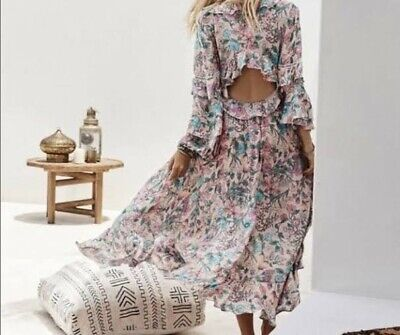 AU260 • Buy SPELL Sayulita Frill Gown Maxi (S) RRP: $299