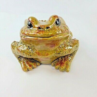$ CDN134.67 • Buy Vintage Arnels Large Ceramic Frog Toad Green Yellow Red 1976