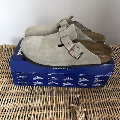 Birkenstock Boston Clogs Soft Bed Size UK 7 EU 40 Taupe • 67£