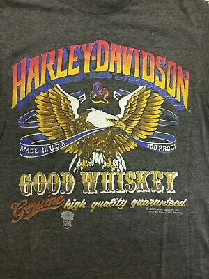 $ CDN75 • Buy Vintage Harley Davidson Motorcycles T-shirt M Small Good Whiskey 80s Tophale