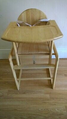 £50 • Buy East Coast Nursery Combination Highchair & Converts To Play Table - Natural.