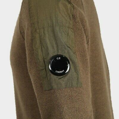 New RRP £250 C.P. Company XXL Ivy Green Crew Knitted Jumper Sleeve Pocket Lens   • 139.99£