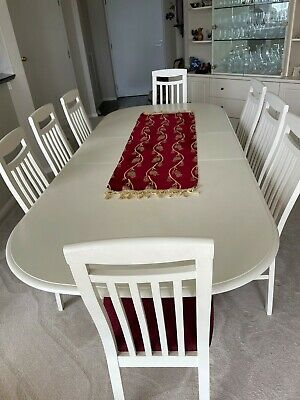 AU220 • Buy Extendable Dining Table And 8 Chairs