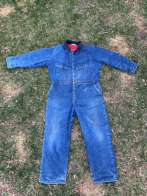 $64.99 • Buy Vintage Key Imperial Insulated Denim Coveralls Men's XL Talon Distressed Blue