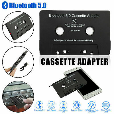 £10.99 • Buy Bluetooth 5.0 Car Audio Stereo Sound Cassette Tape Adapter MP3 Hands-Free Aux