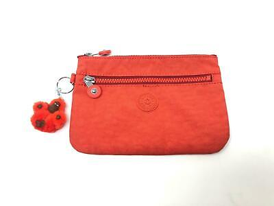 £14.95 • Buy Kipling Basic EWO Ness  Zip Pouch Purse Bag Active Red - BRAND NEW RRP £25.99