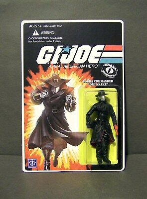 $ CDN85.36 • Buy Custom GI Joe Figure And Package   OLD SNAKE  Cobra Commander From TRANSFORMERS