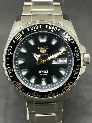 $ CDN124.28 • Buy Seiko Custom Mod 4R36A Automatic DAY DATE  Diver's Men's Wrist Watch