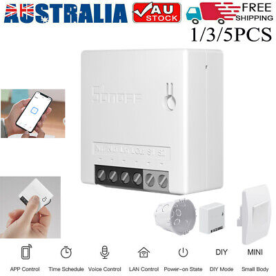 AU131 • Buy SONOFF Mini 2 Two Way Smart Switch Remote Control For Alexa Google Home AU