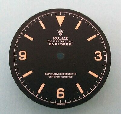 $ CDN341.27 • Buy ~ Vintage Rolex #1016 EXPLORER Chapter Ring Matte Black Repaired Dial ~