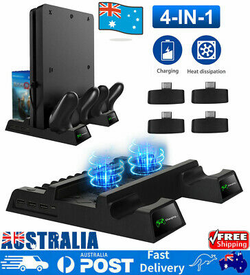 AU44.99 • Buy Vertical Stand Cooling Fan PS4 Controller Charging Dock For PS4/PS4 Slim/PS4 Pro