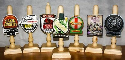 £19 • Buy 1 Beer Pump Handle, Home Bar, Mancave, Includes Brewery Clip And Badges,