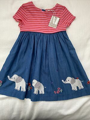 AU25.24 • Buy John Lewis BNWT Girls Short Sleeve Dress With Elephants 2-3yrs