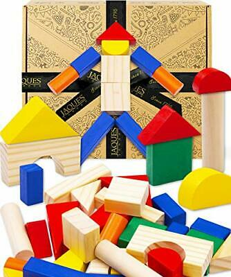 £22.69 • Buy Wooden Building Blocks For Kids, Toddler Toys For 1 2 3 Year Old Boy And Girls